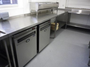 Golf Club Kitchen and Walk In Refrigerated Rooms